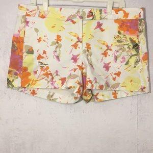 Cynthia Rowley watercolor print shorts size 12.
